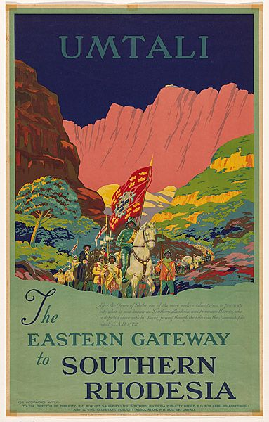 Umtali The eastern gateway to Southern Rhodesia 1938 Artist