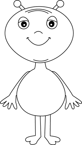 Black And White Alien Clip Art Black And White Alien Image Coloring Pages For Boys Boy Coloring Alien Crafts