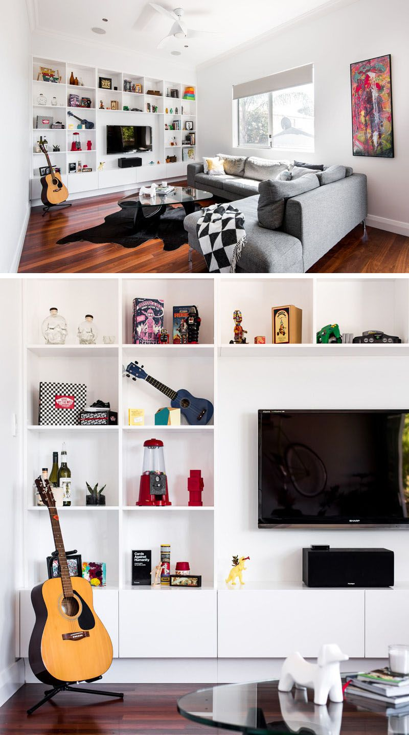 8 TV Wall Design Ideas For Your Living Room | Tv wall design, White ...