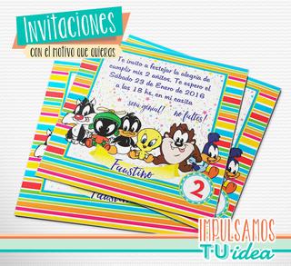 Baby Looney Tunes Invitación Para Imprimir Looney Tunes