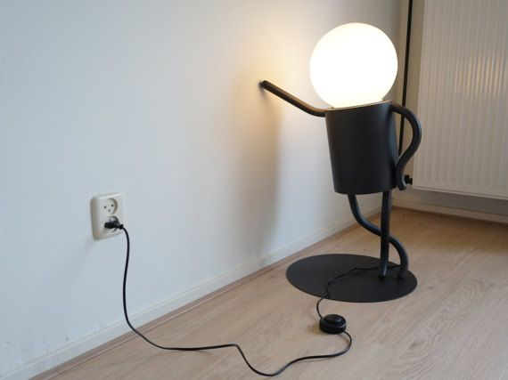 I Made This Little Man Because I Wanted To Have A Modern Decorative Standing Lamp In My Living