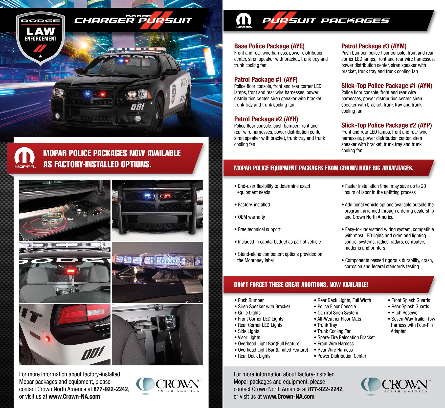 Crown North America Is The Dodge And Mopar Authorized Source For Wire Harness Law Enforcement Emergency