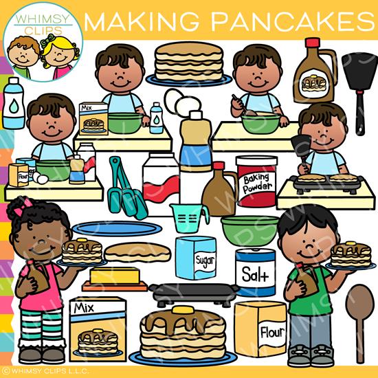 Making Pancakes Every Day Kids Bundle 2 Clip Art Pancakes Clipart Art Bundle