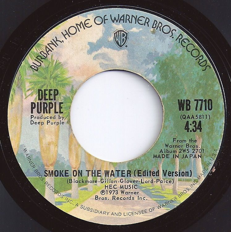 Smoke On The Water Deep Purple 4 On Billboard 1973 Music