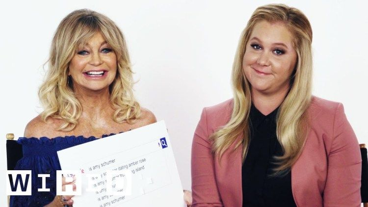 Amy Schumer and Goldie Hawn Answer the Web's Most Searched Questions About Themselves