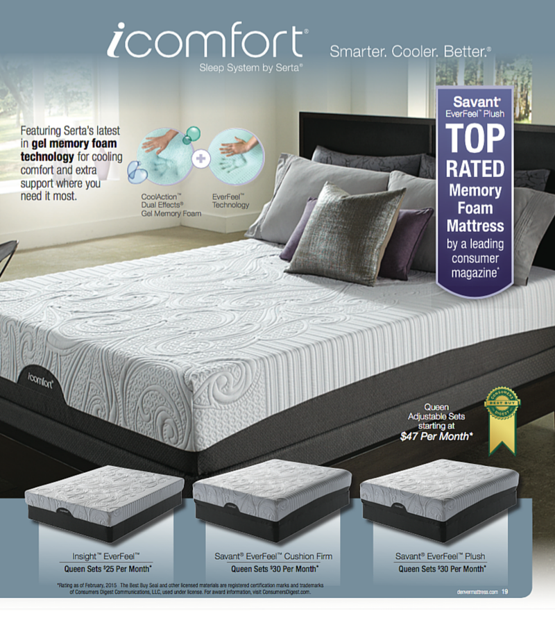 The Icomfort Sleep System By Serta At Denver Mattress Pricing And Finance Offers
