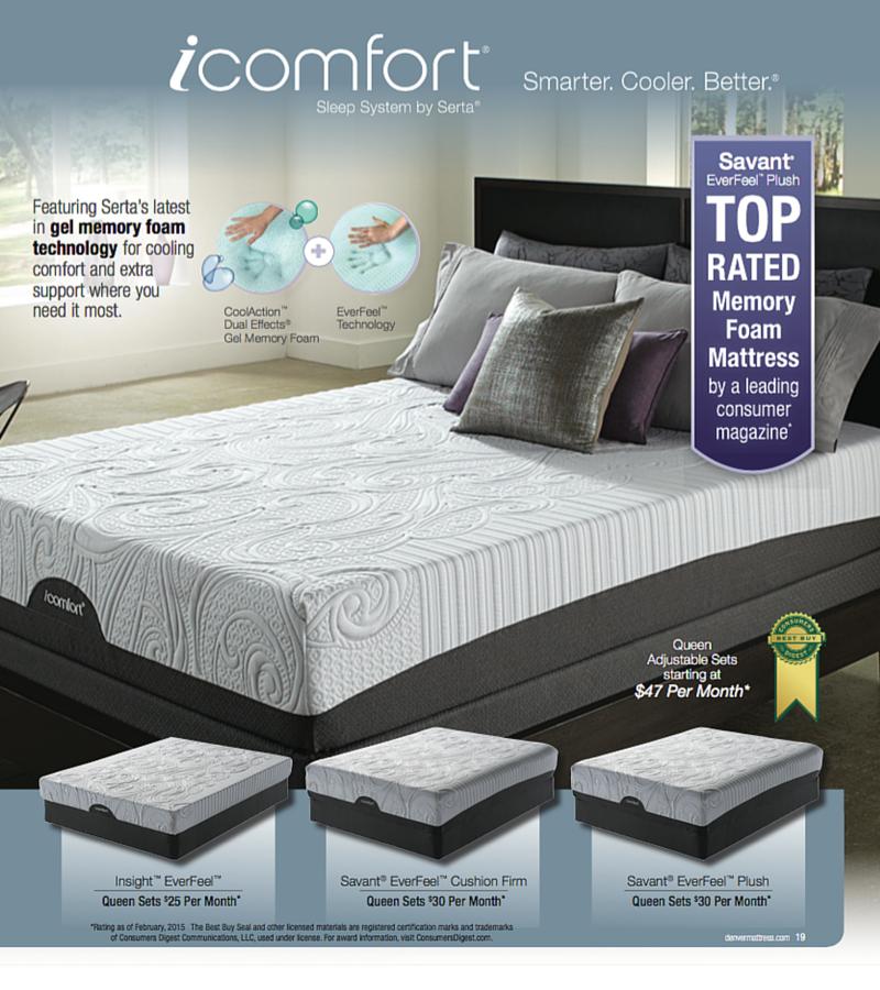 Shop The Icomfort Sleep System By Serta At Denver Mattress Sale