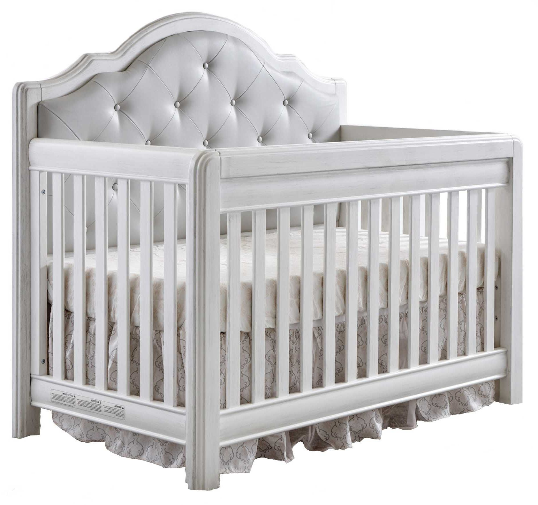 Vintage white crib for sale - Pali Cristallo Forever Crib In Vintage White With Leather Panel