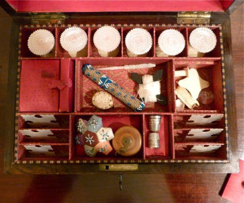 TUNBRIDGE-WARE FITTED SEWING BOX