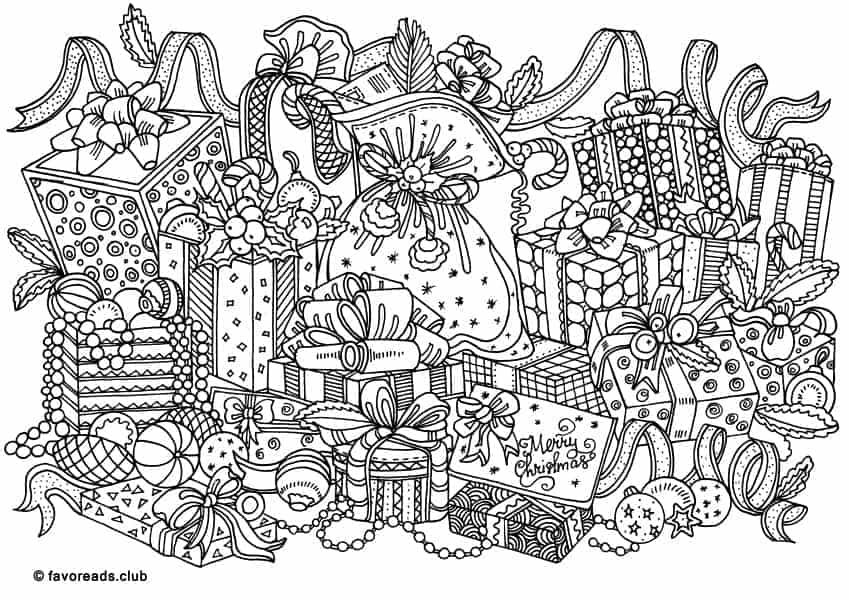 Christmas Joy Christmas Presents Favoreads Coloring Club Printable Coloring Pages F Free Christmas Coloring Pages Coloring Pages Christmas Coloring Pages