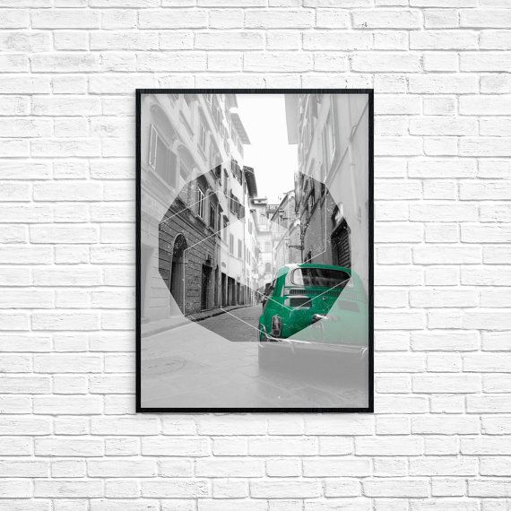 City Photograph- Geometric-Landscape-Home Decor by HerselfDesigns on Etsy.