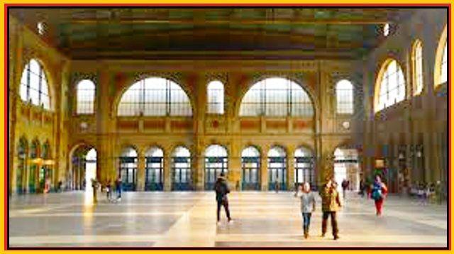 ZURICH, Switzerland - Zürich Hauptbahnhof_edited Switzerland - interior - train station -Romanesque style architecture  OL