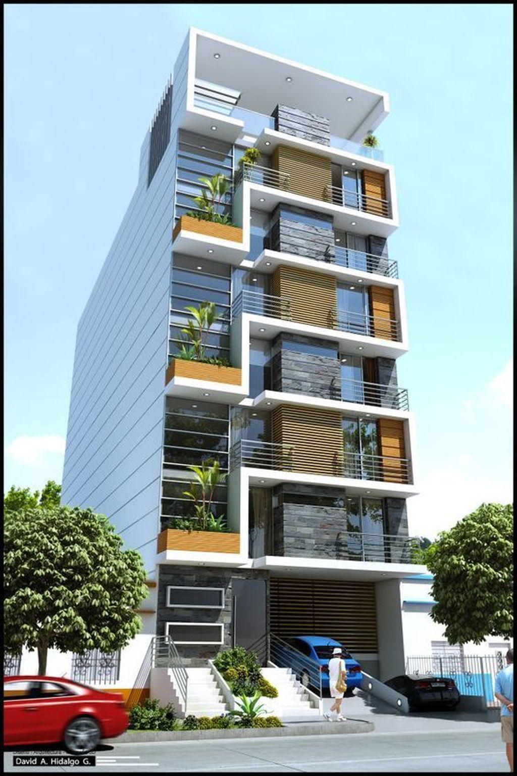 Nice 40 Amazing Apartment Building Facade Architecture Design