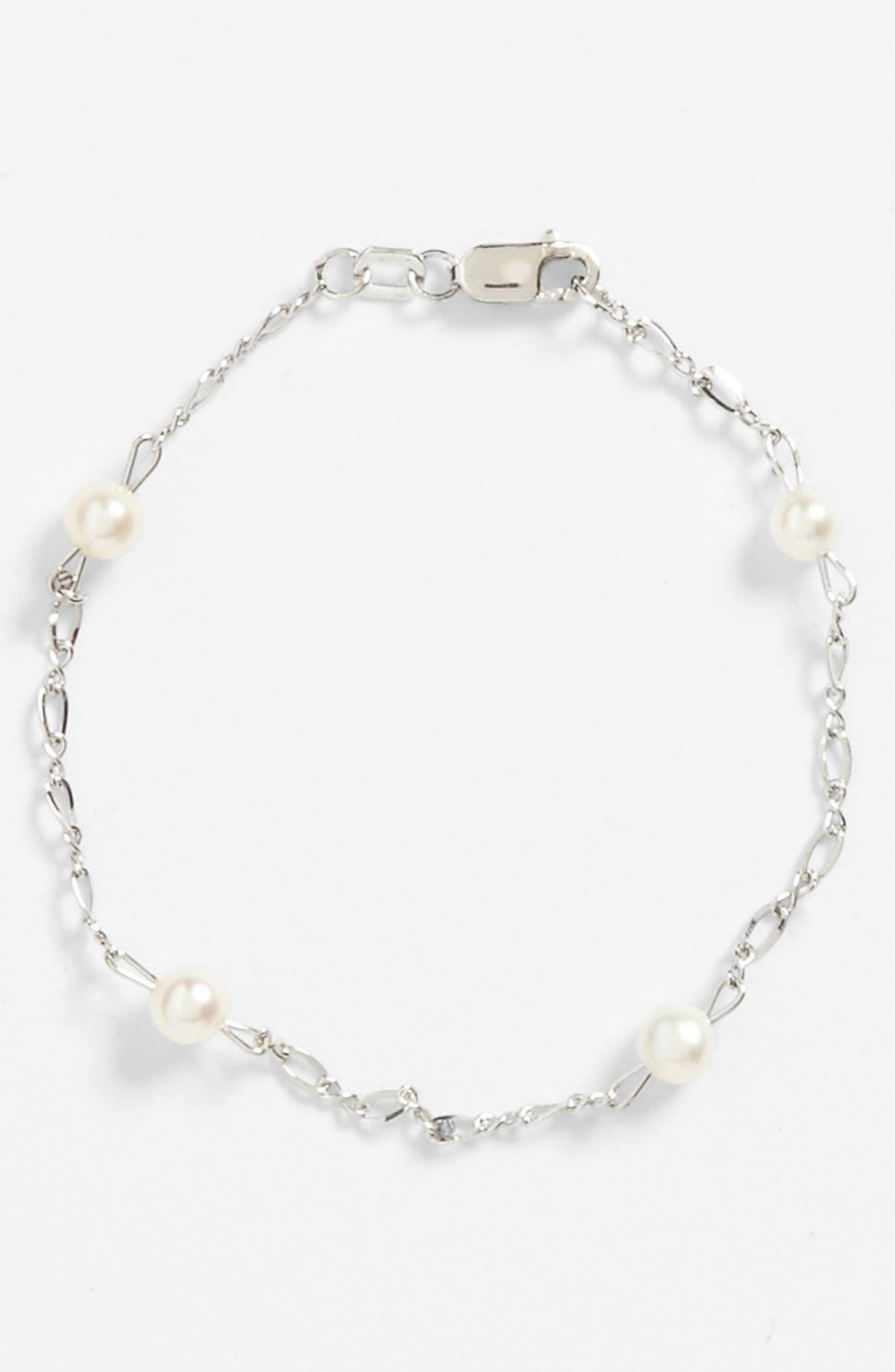 Sterling silver u cultured pearl bracelet pearl bracelet and infant