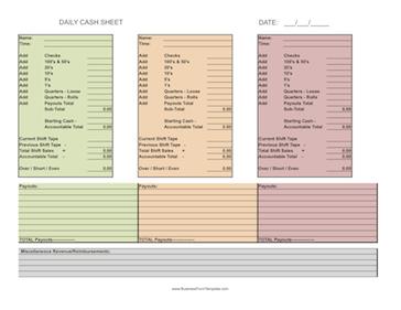 Breathtaking image regarding free printable cash drawer count sheet