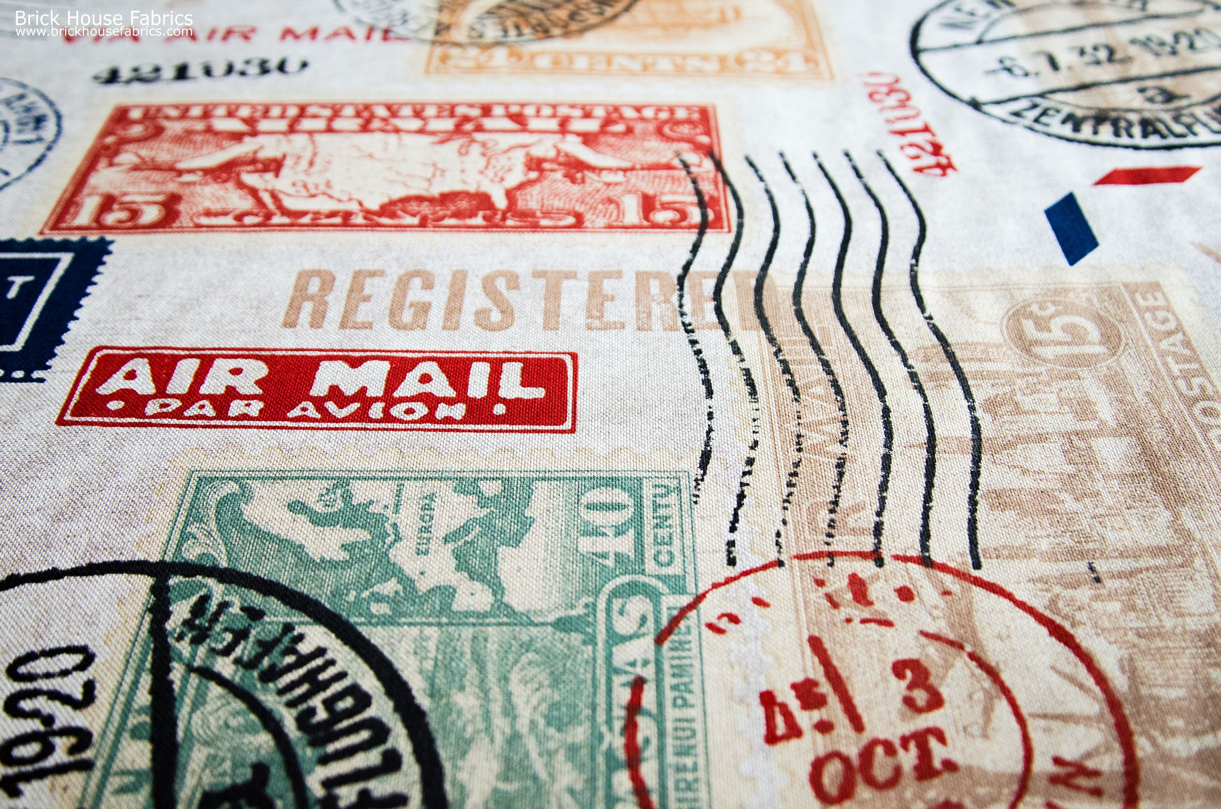 Travel Fabric Postage Stamp Mail