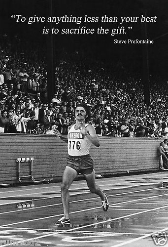 Steve Prefontaine Poster..quote /'they will have to bleed/'//Track Star//Running