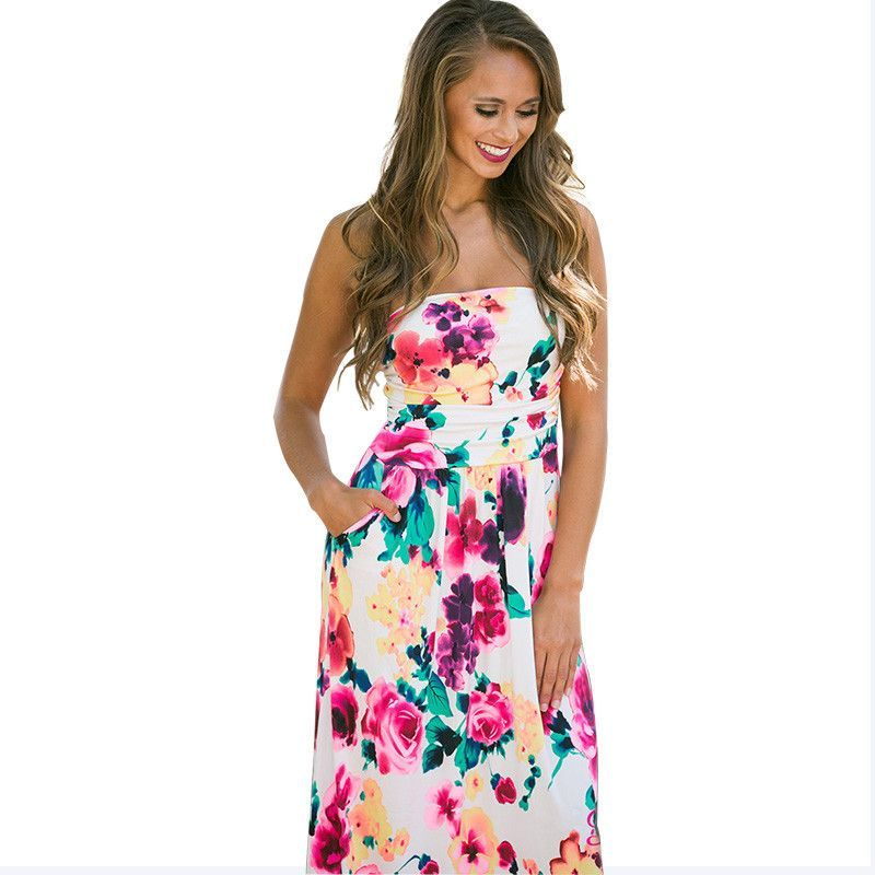 Boho Maxi Sundress ~7 Colors to Choose From!
