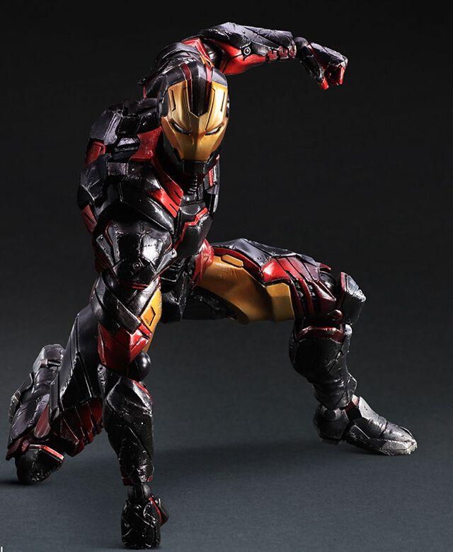 Iron Man Black Suit Iron Man Action Figures Play Arts Kai Action Figures Marvel Iron Man