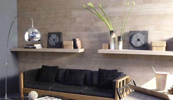 revêtement mural en lattes de bois différentes teintes - Recherche Google