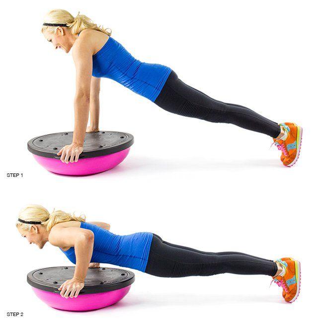 Balance Ball Sit Ups: Bosu Ball, Biceps And Full Body