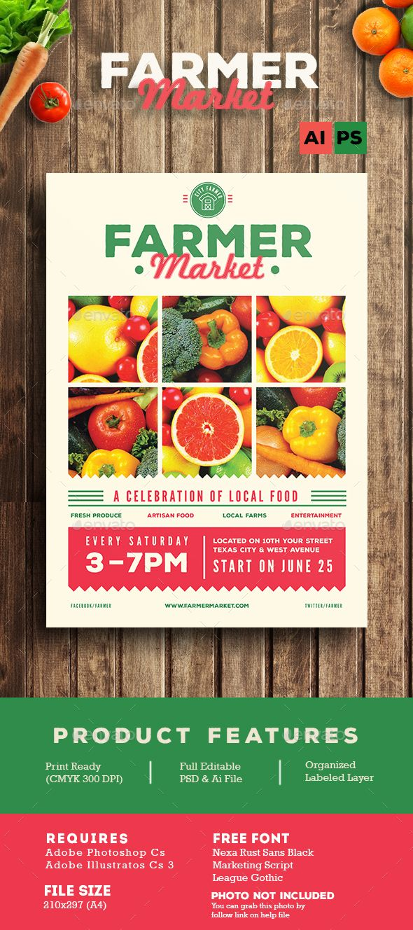 Farmer Market Flyer  Farmers Flyer Printing And Print Templates