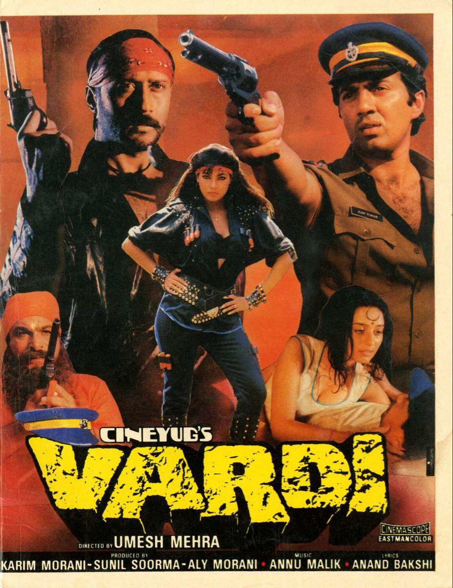 Vardi 1989 Sunny Deol Jackie Shroff In 2021 Anu Malik Bollywood Movies Jackie