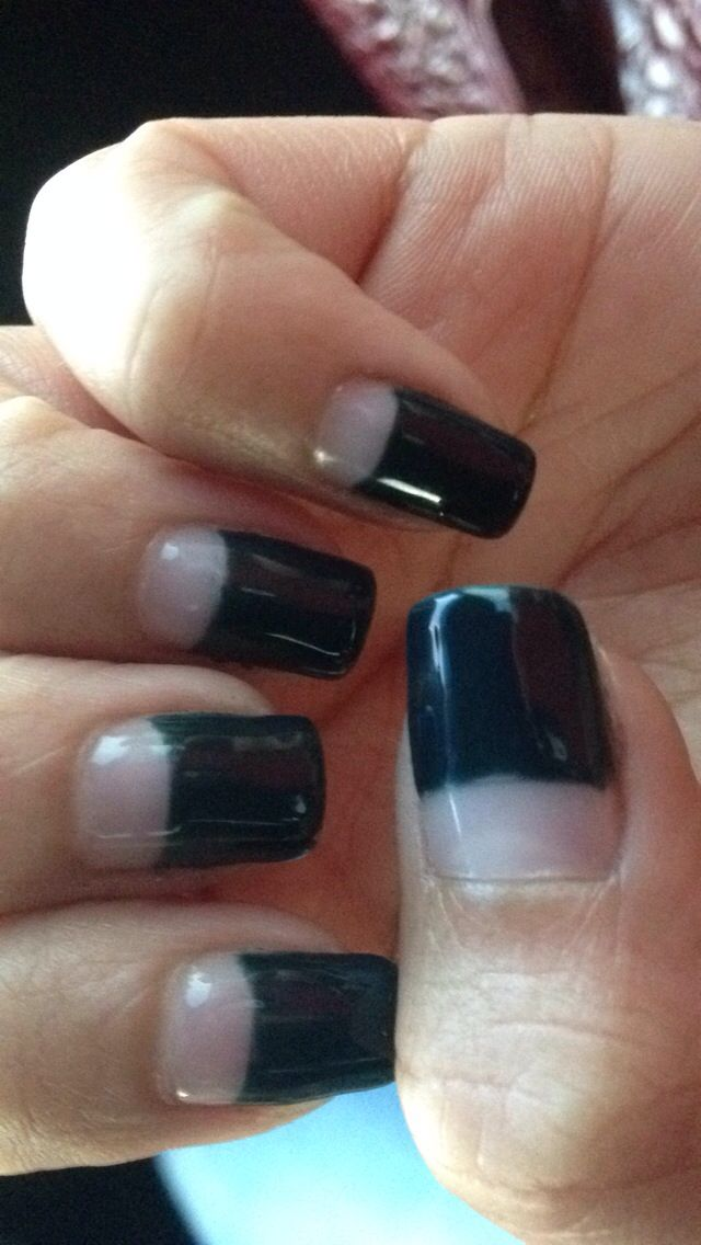 Forest Green Gel Thick French Tip I Love It Should Have Added A Jewel