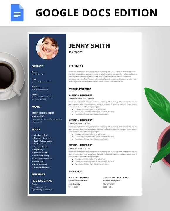 resume template  cv  google docs by best themes