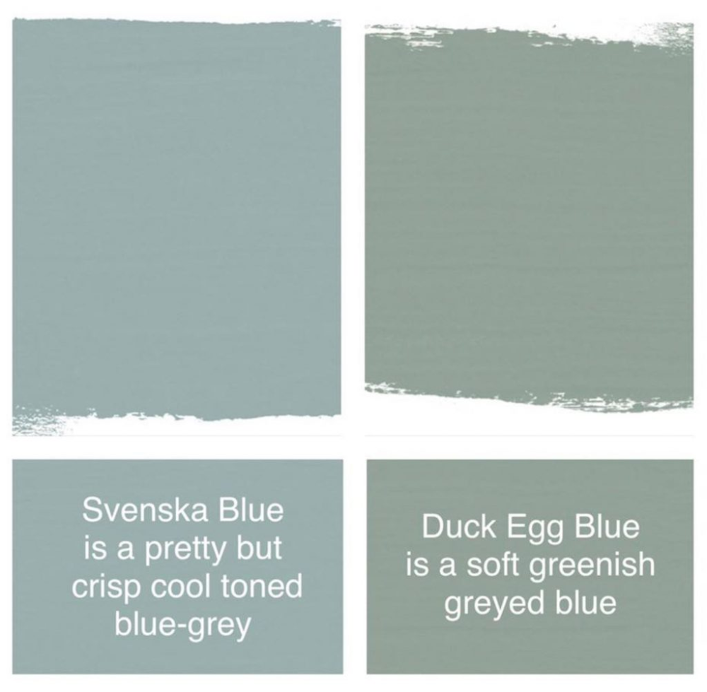 Differences Between Duck Egg Blue Vs Svenska Blue Chalk Paint In Litres The Purple Painted Blue Chalk Paint Duck Egg Blue Kitchen Duck Egg Blue Annie Sloan