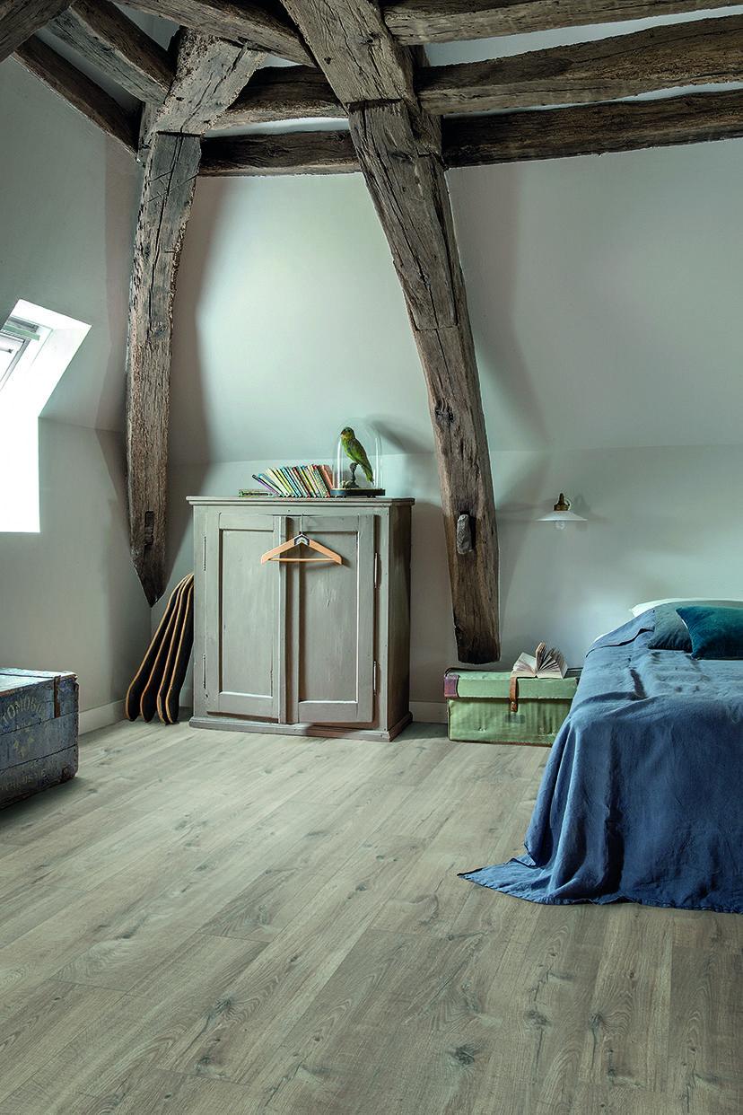 Suelos de #PVC de Quick-Step. Su #diseño de #madera #rústica es muy ...