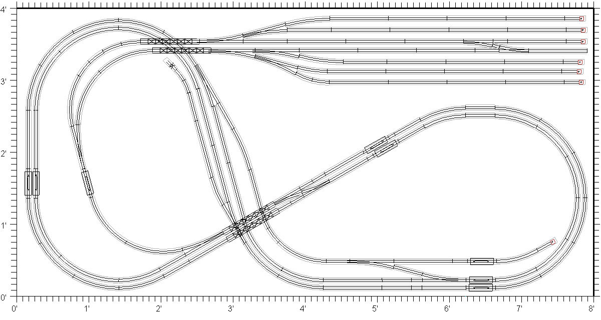 kato double track plate layouts