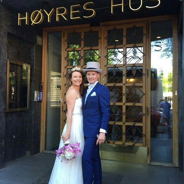 Husker du konkurransen vi hadde med P4 og Nobel Catering der et heldig par kunne kunne drømmebryllupet? I helgen giftet de seg  Gratulerer til Monica og Thomas, vi ønsker dere all lykke fremover  #drømmebryllupet #bryllup #bruden #brudeparet #gratulerer #HøyresHus #gullfunnbryllup Regram: @nobelcatering