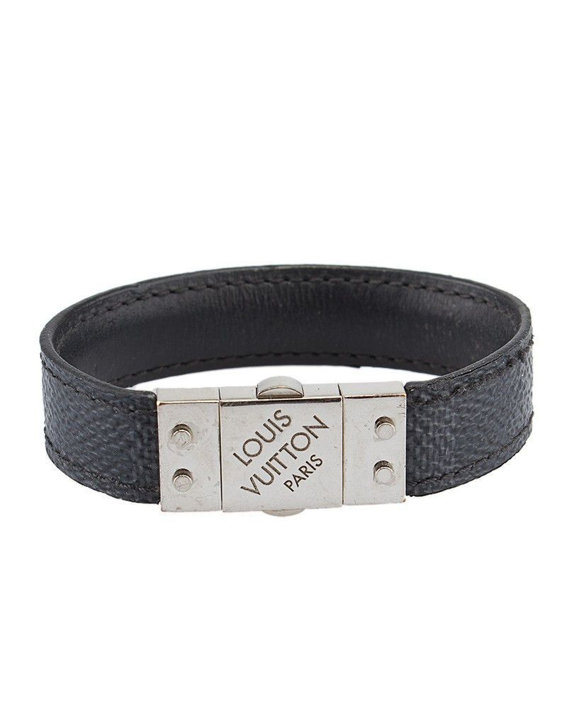 Louis vuitton check it damier graphite reversible bracelet louis