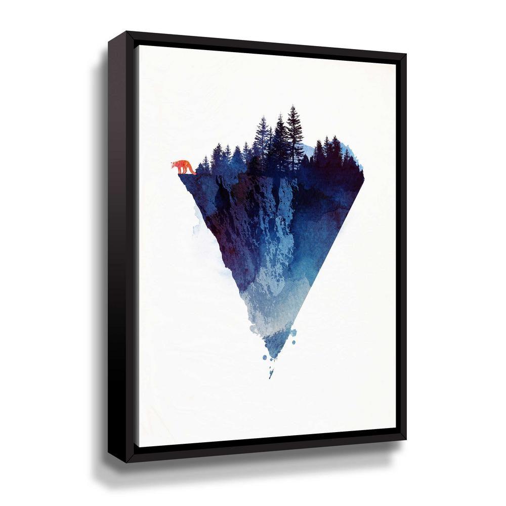 Artwall Near To The Edge By Robert Farkas Framed Canvas Wall Art Blue Framed Canvas Wall Art Canvas Wall Art Gallery Wrap Canvas