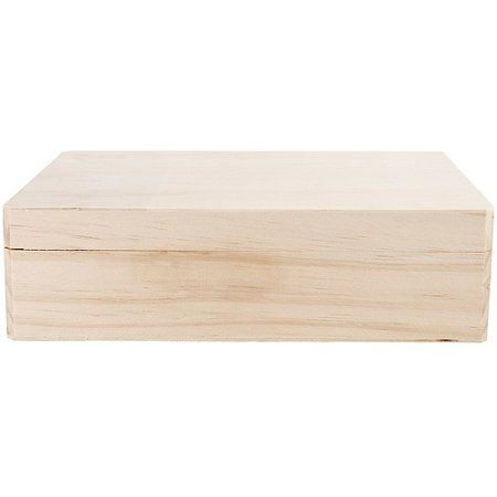 Unfinished Wood Memory Box Hinged 12 X 9125 X 325 Products