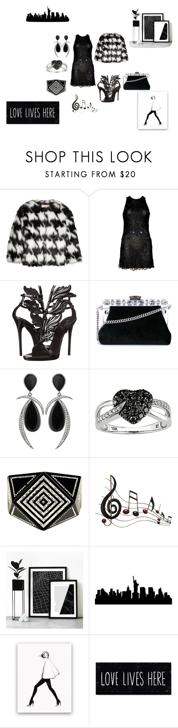 """Untitled #349"" by deirdre35 on Polyvore featuring MICHAEL Michael Kors, Versace, Giuseppe Zanotti, Dolce&Gabbana, Jorge Adeler, Ice, Chanel and Benzara"