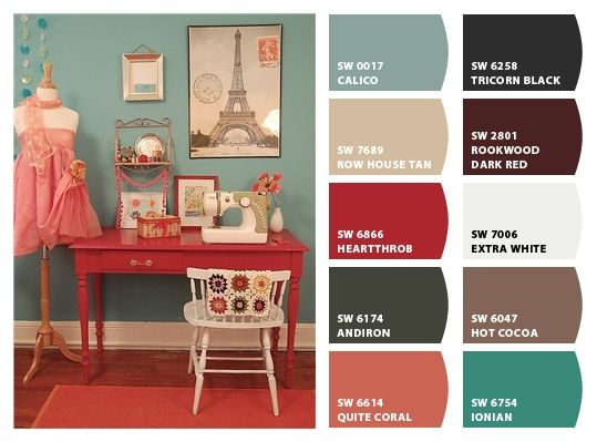 Chip It! by Sherwin-Williams – Home Maybe colors for the Jack and Jill bath, could bridge the colors of the girls rooms.