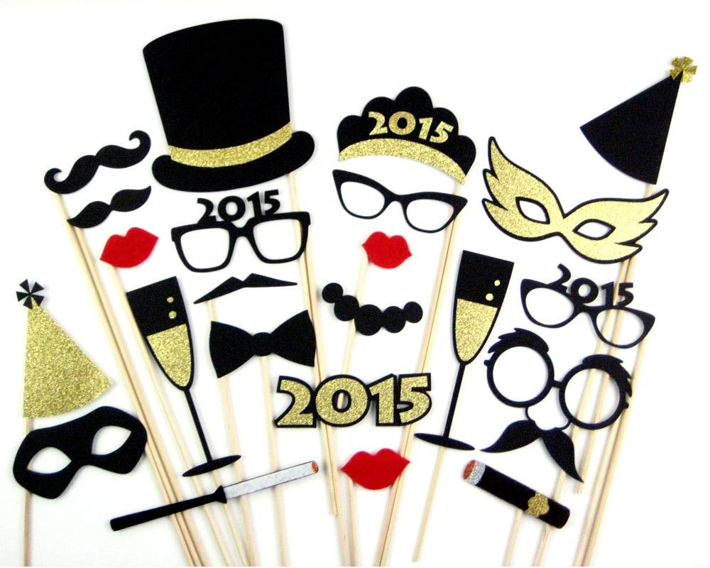 New Years Eve Photo Booth Props Felt Photobooth 2015 New Year
