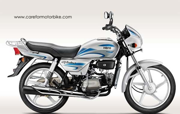 Hero Splendor Plus Motorcycle Cloud Silver Colour Hero Honda