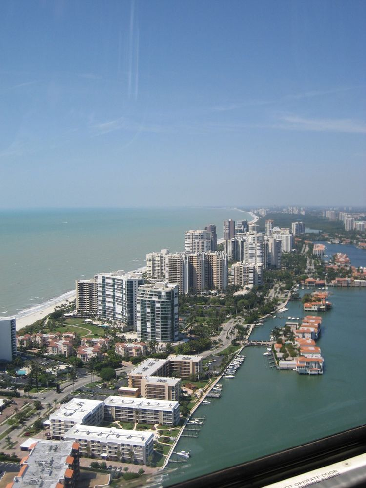 Naples FL Ocean Front From A Helicopter