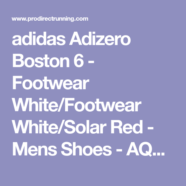 653bd9a3d0e9 adidas Adizero Boston 6 - Footwear White Footwear White Solar Red - Mens  Shoes