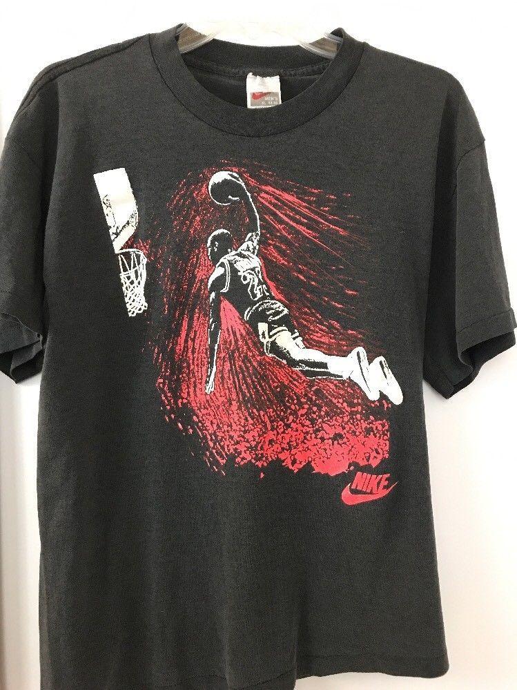 c48947e4691ed1 VTG Nike T Shirt Michael Jordan Gray Tag OG Flight Swoosh Fits like SZ M L  50 50  MichaelJordan