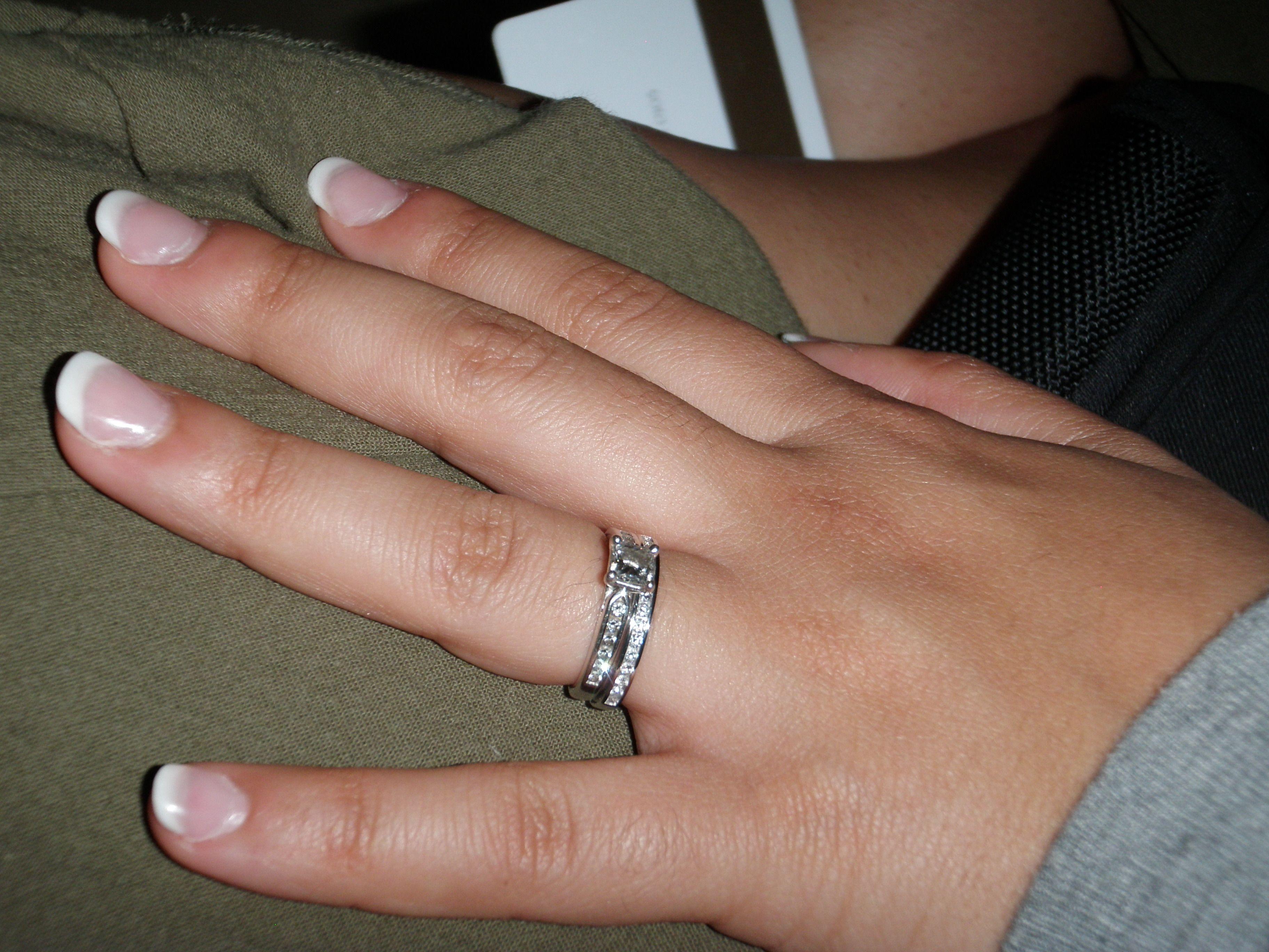 Blue Nile Wedding Band & Engagement Ring