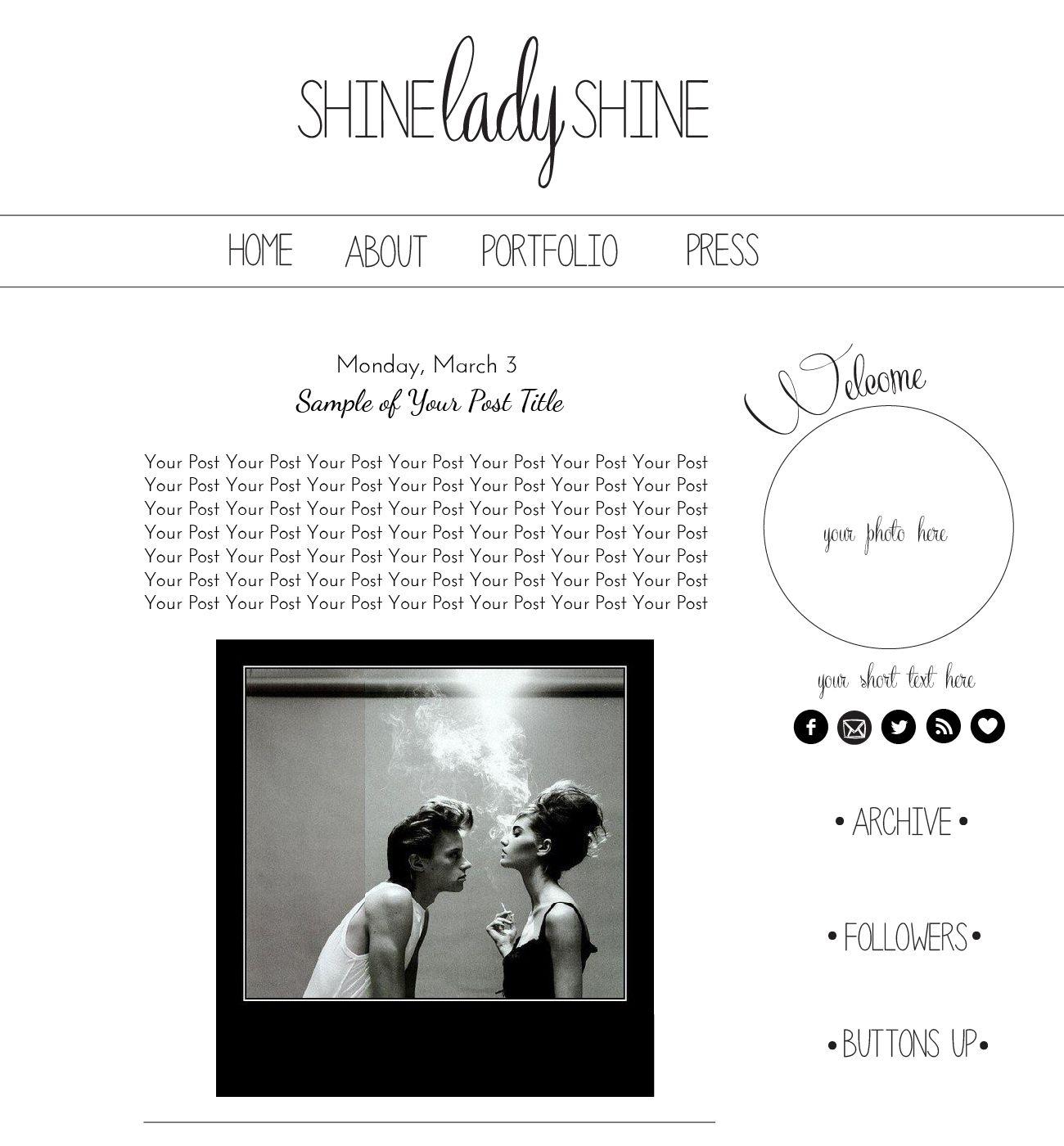 Etsy Blogger Templates Blog Simple Ordinary Stylish Black