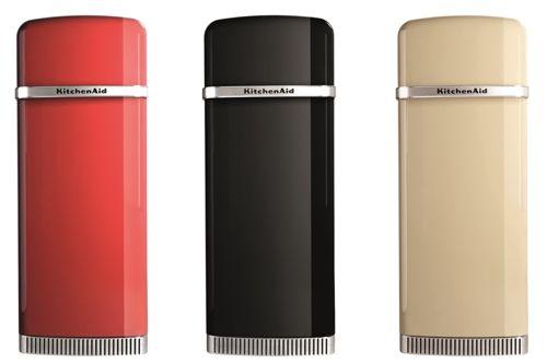 Retro Pelgrim Koelkast : Nieuwe kitchenaid koelkast iconic fridge in rood zwart en wit