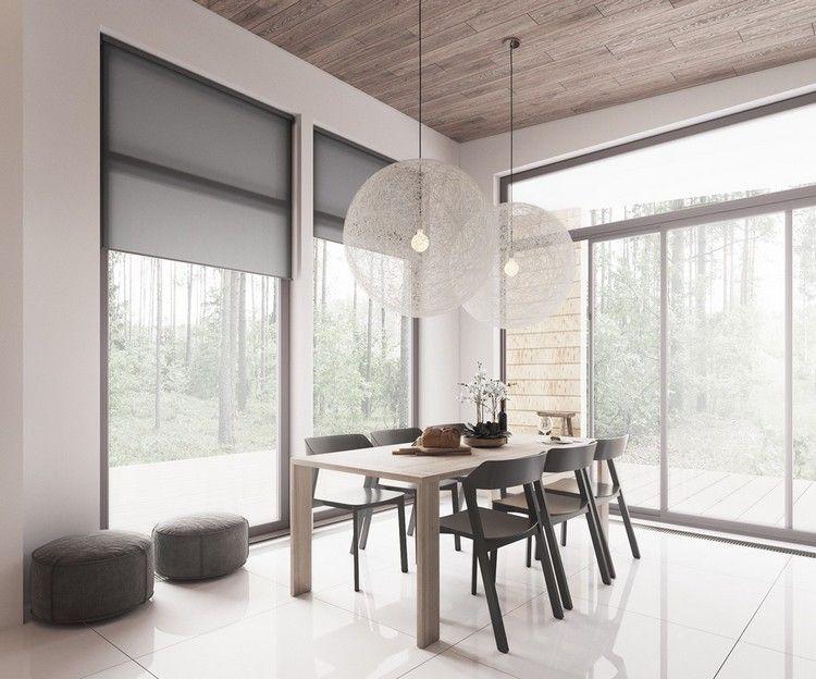 salle à manger de style scandinave revisité avec table en bois et ...