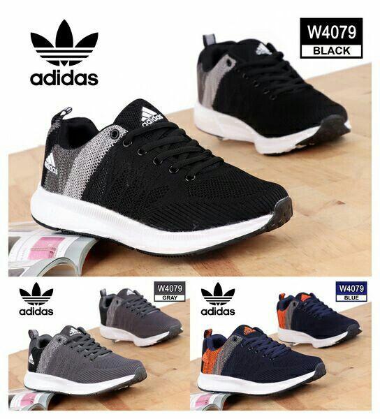 Sport Shoes Pria Adidas W4079 Bahan Fabric Mesh Kualitas Semi