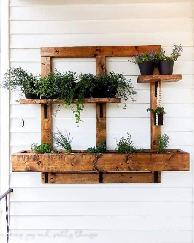 31 fantastic wall planter ideas for small balcony diy on indoor herb garden diy wall vertical planter id=53070