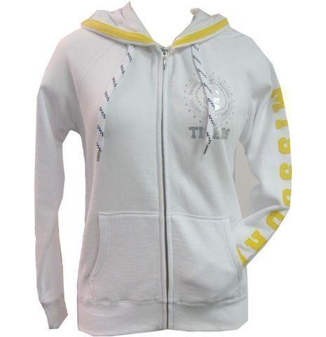 Missouri Tigers Mizzou White Designer Jacket With Rhinestones $45.95